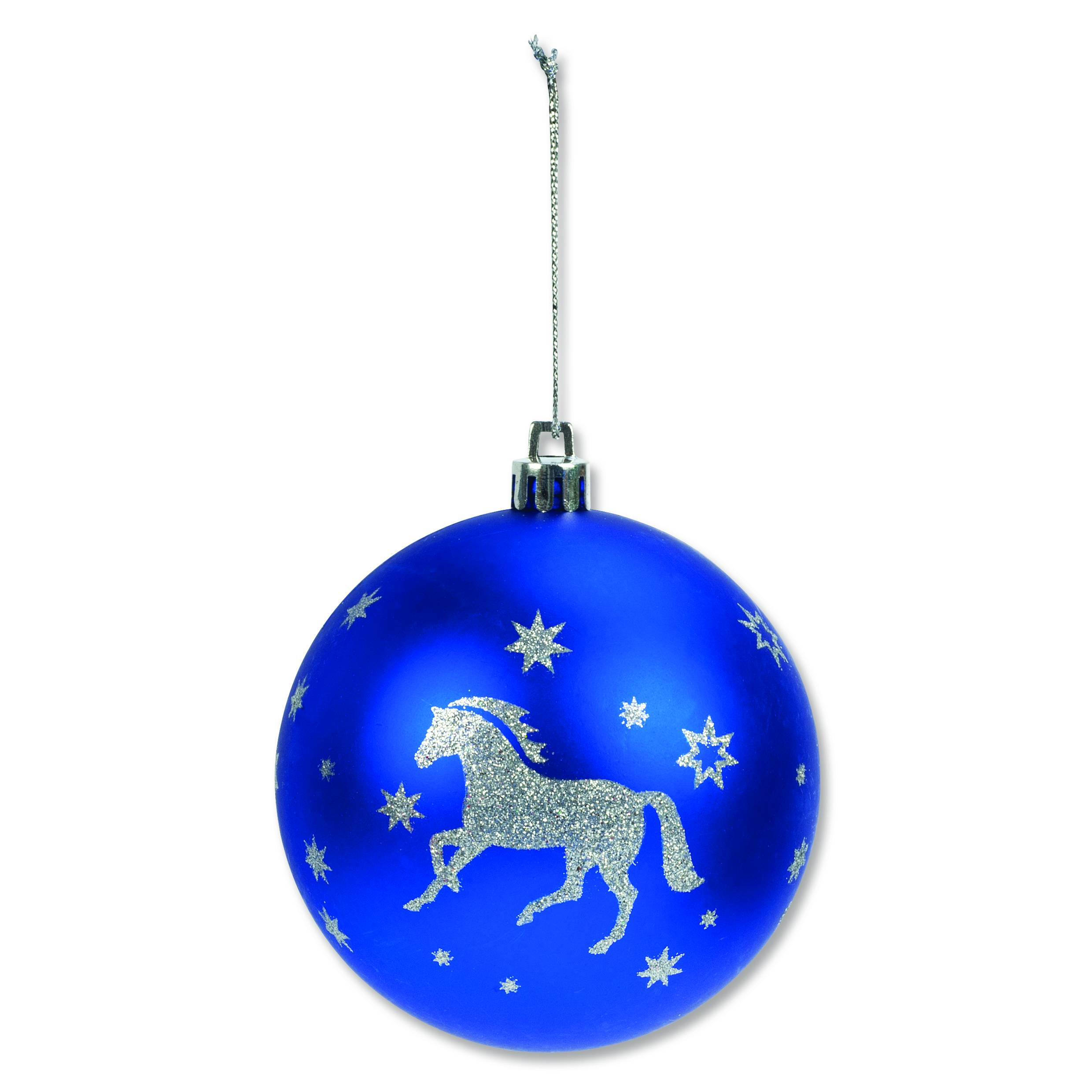 Horse Christmas Ornaments - 6 Pack