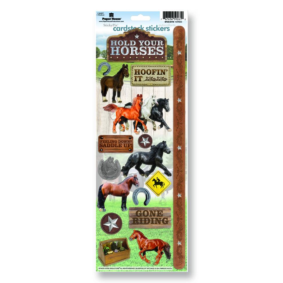 Hold Your Horses Cardstock Stickers