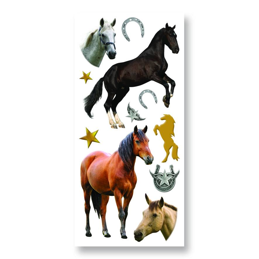 Horse Puffy Stickers