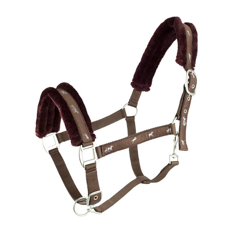 HorZe Basel Halter And Lead W Fakefur