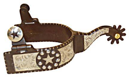 Robart Robart Mens All Purpose Engraved Texas Star Spurs