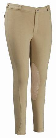 TuffRider Mens Cotton Knee Patch Breech