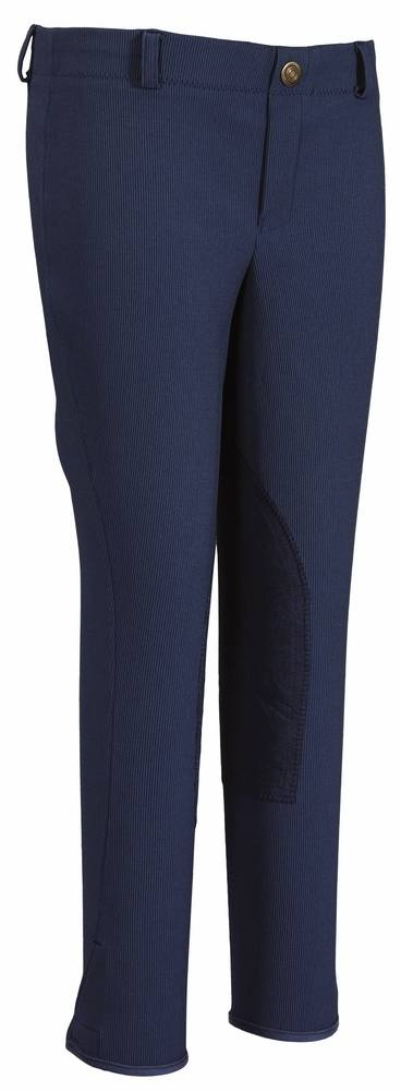 TuffRider Kids Ribb Lowrise Pull-On Knee Patch Breech
