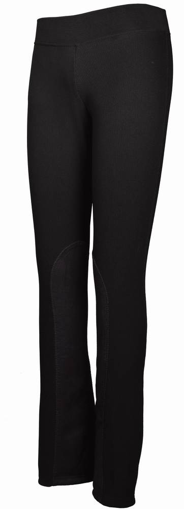 TuffRider Ribbed Boot Cut Tights - Stretch Pants With Boot Cut Leg