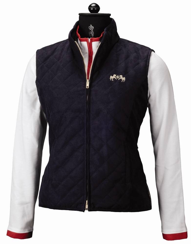 Equine Couture Ladies Spinnaker Micro Suede Vest