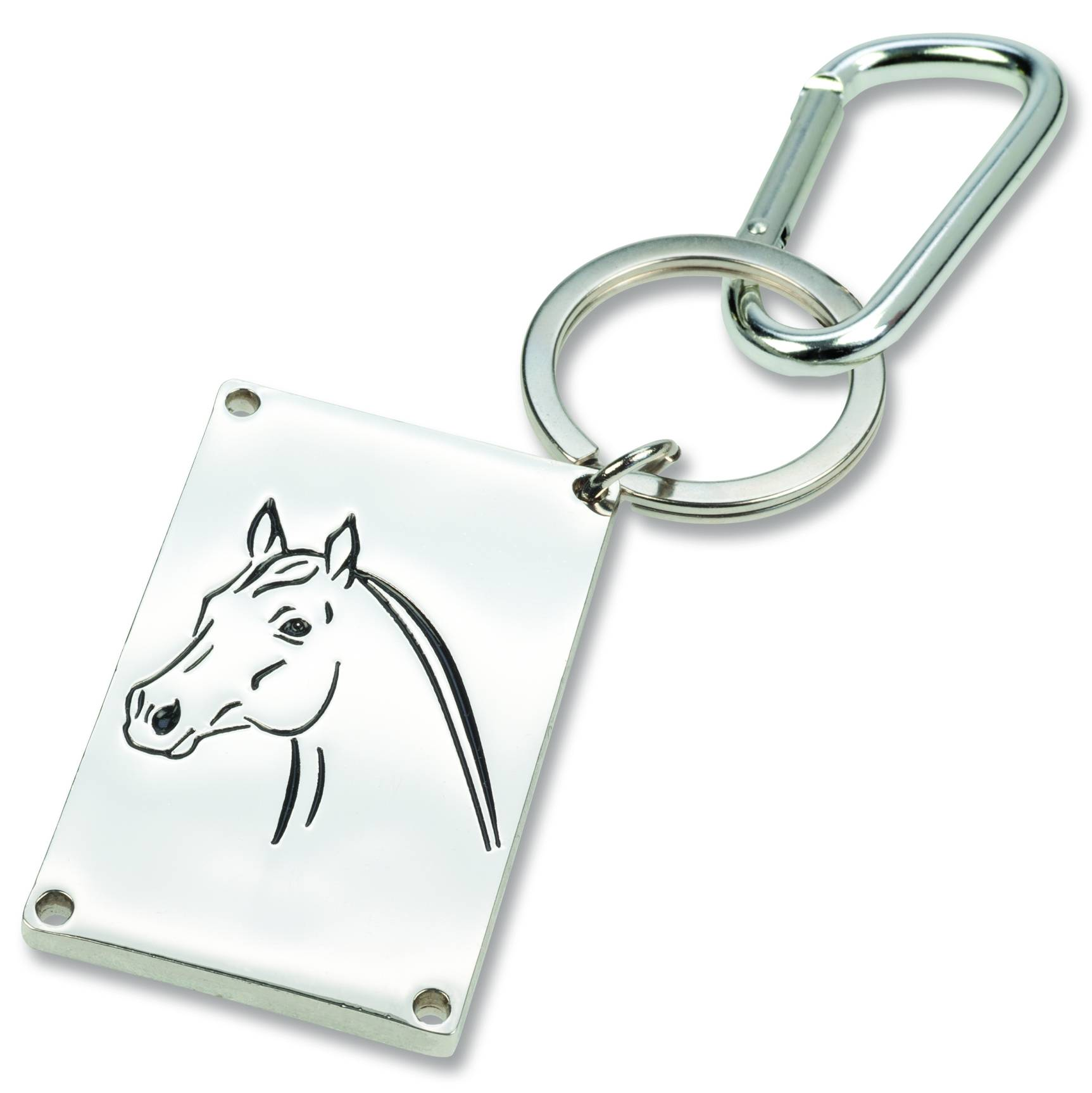 Keychain and Luggage Tag - Writable 'Horse Name Plate'