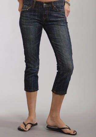Stetson Ladies Slim Leg Denim Crops