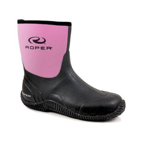 Roper Ladies Neoprene Barn Boots - Pink