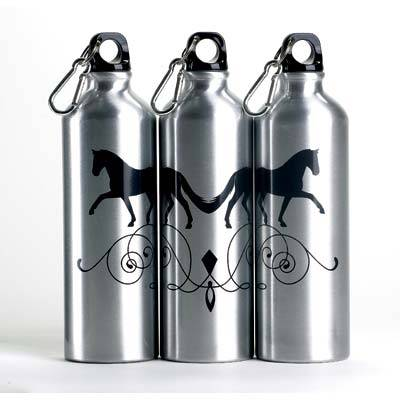 Horse Aluminum Sports Bottle with Carabiner
