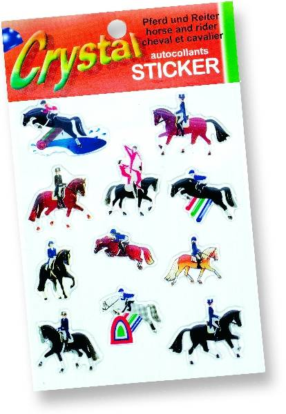 ''Horses And Riders'' Stickers