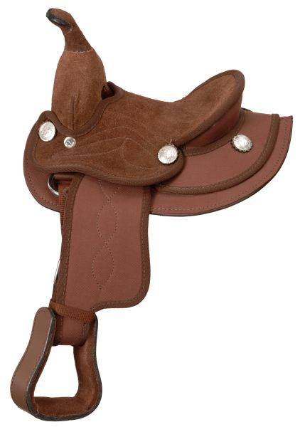 King Series Suede Seat Synthetic Miniature Saddle