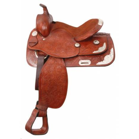 King Series Lancaster Show & Trail Saddle with Silver