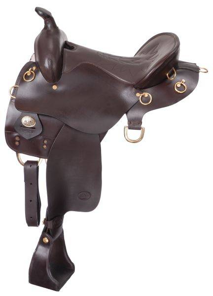 King Series Trekker Endurance Wide Saddle with Horn