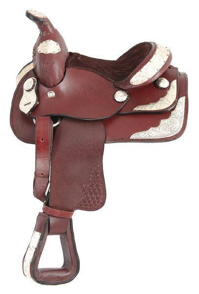 King Series Miniatureature Western Show Saddle with Silver