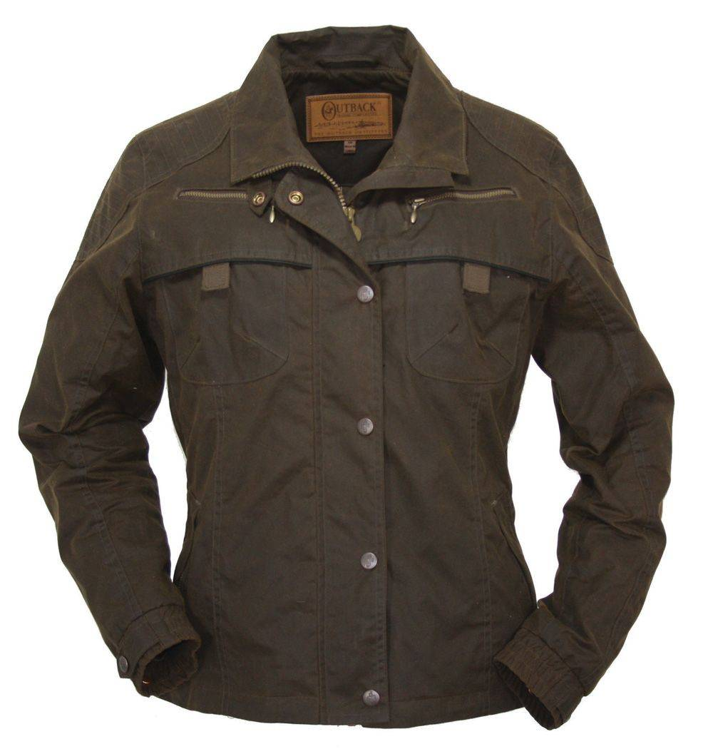 OPEN BOX - Outback Oilskin Sheilas Delight Jacket - Ladies - Small - Bronze