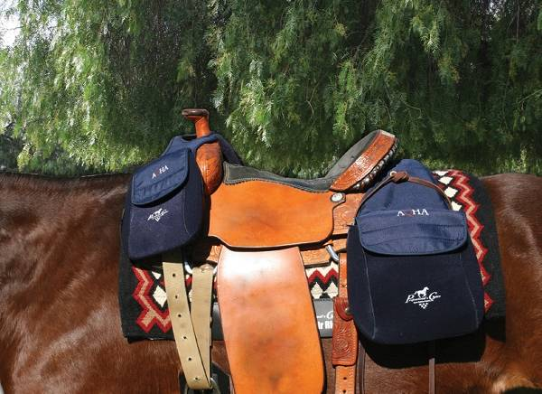 Professionals Choice AQHA Saddle Bags - Rear