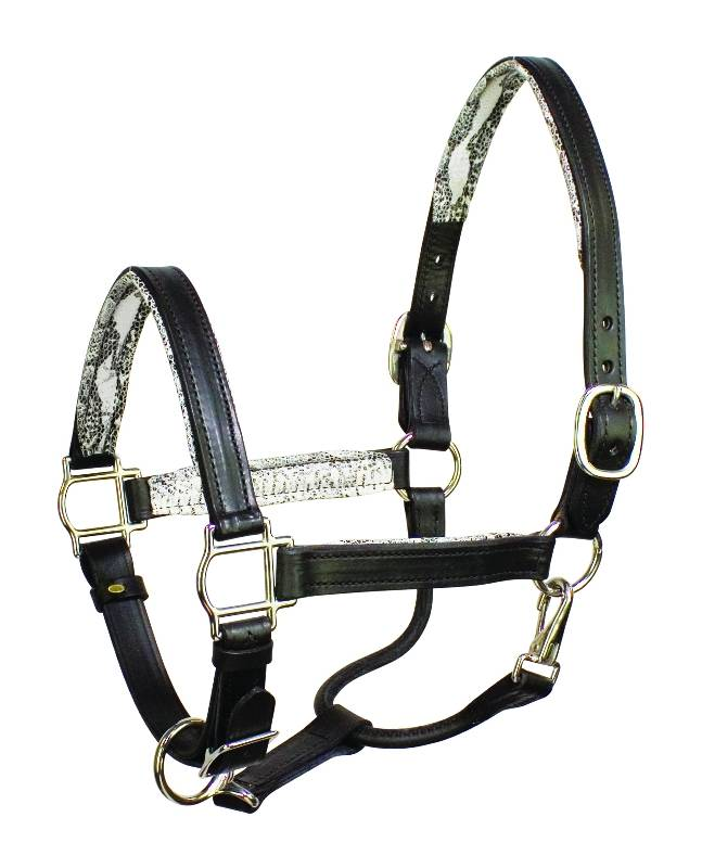 Perri's Soft Padded Leather Halter - FREE Perri's Leather Potion 0.75 oz.