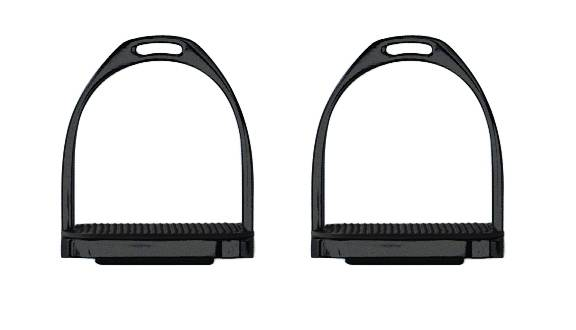Perri's Black Powder Coated Stirrup Irons