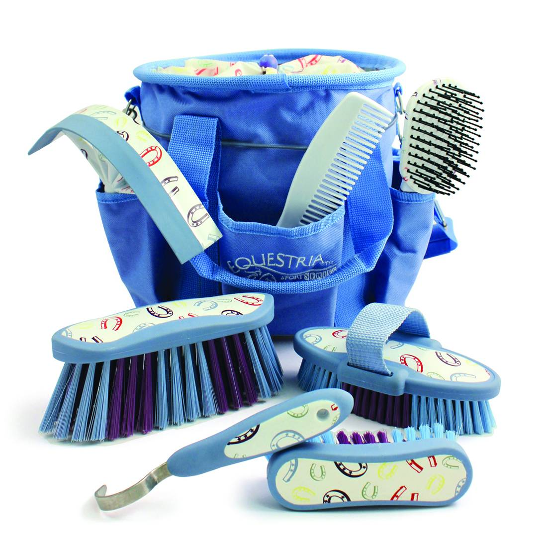 Equestria Sport HorseShoes 8-PC Deluxe Grooming Kit
