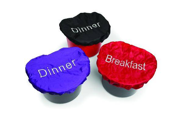 Feed Bucket Cover Set (Breakfast,Dinner)
