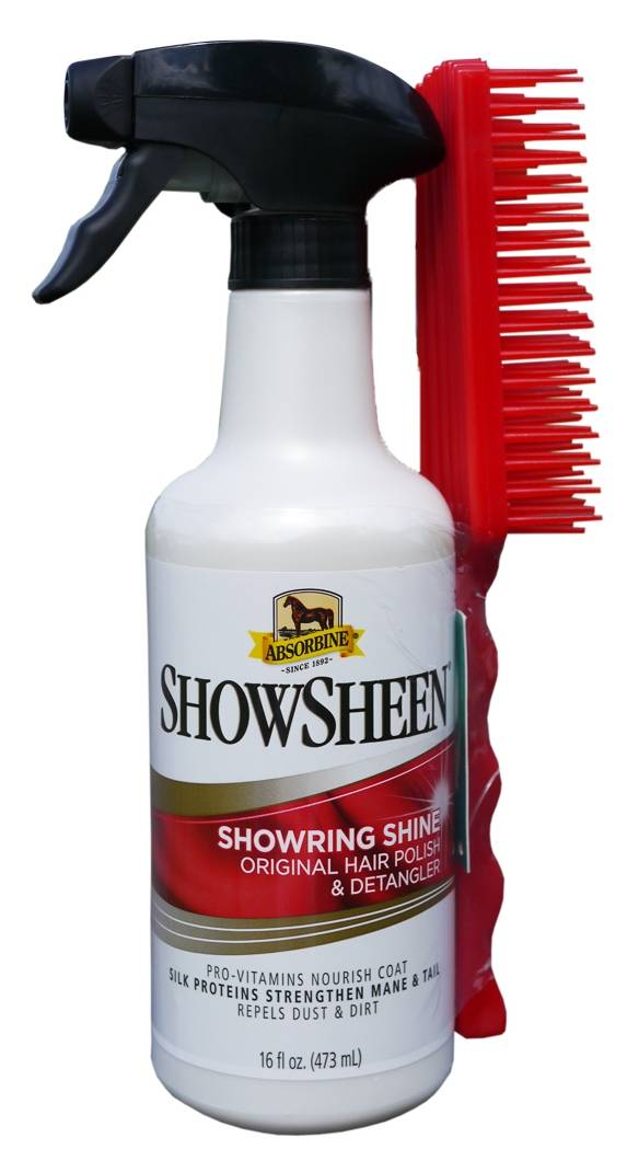 Absorbine ShowSheen Hair Polish & Detangler with Free Brush