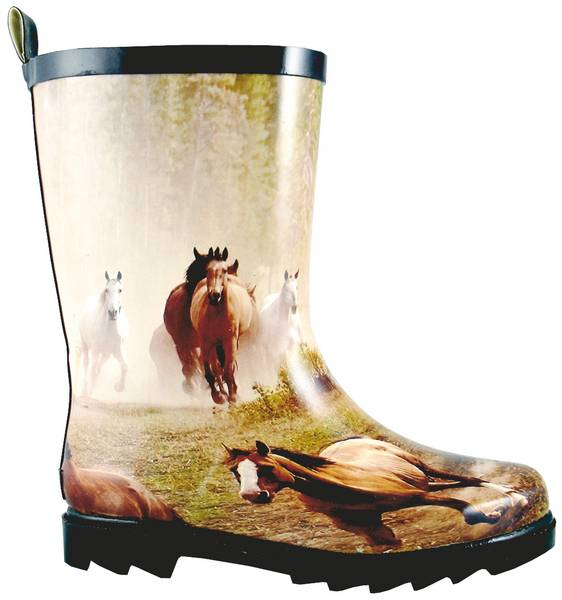 Smoky Mountain Kids Running Horse Rubber Boot
