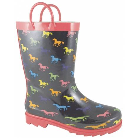 Smoky Mountain Toddler Ponies Rubber Boots