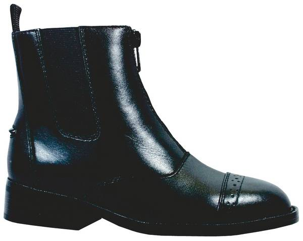 Smoky Mountain Youth Leather Zipper Paddock Boots