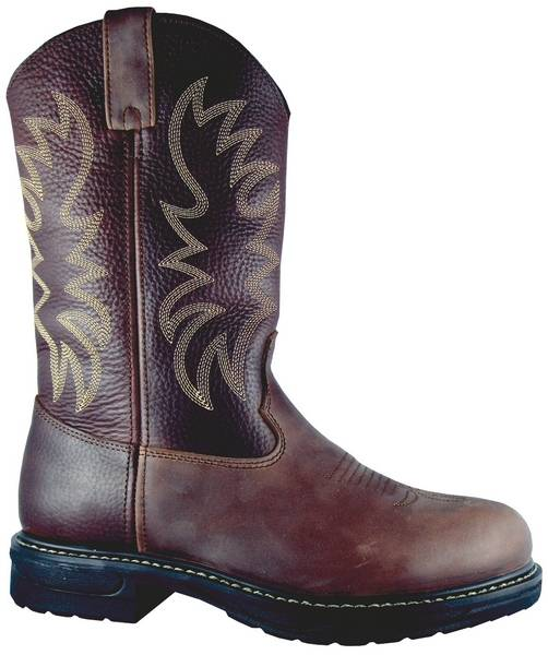 Smoky Mountain Men's Buffalo Steel-Toe Leather Wellington Work Boot