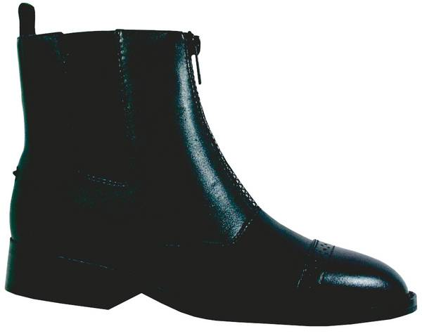Smoky Mountain Ladies Leather Zipper Paddock Boots