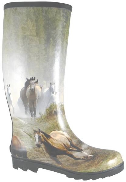Smoky Mountain Womens Running Horses Rubber Boot