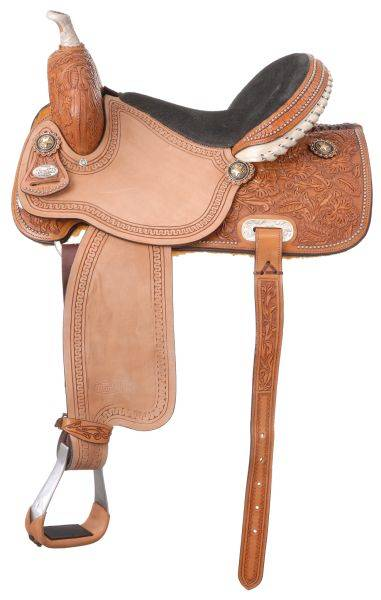 Silver Royal Randall Barrel Saddle