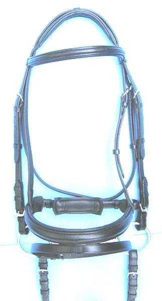 Pro-Trainer Crank Dressage Bridle with Attached Flash