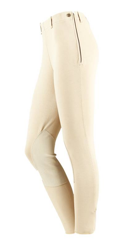 On Course Cotton Naturals Ladies Side Zip Breeches