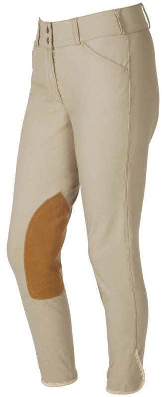 On Course Pytchley Ladies Euro Seat Low Rise Front Zip Breeches