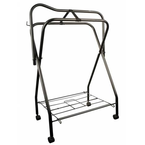 Roma Standing Saddle Rack With Roller