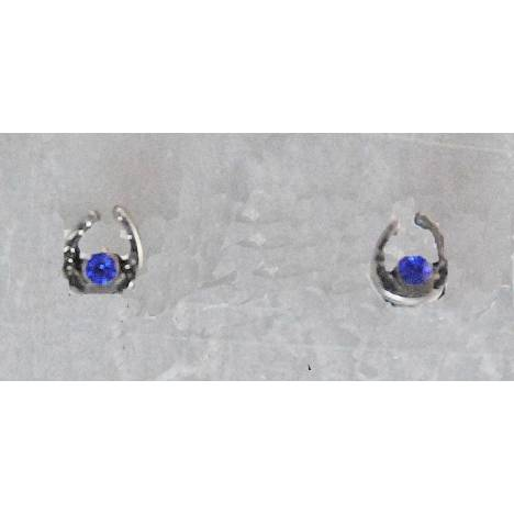 Finishing Touch Horseshoe with Sapphire Stone Earrings
