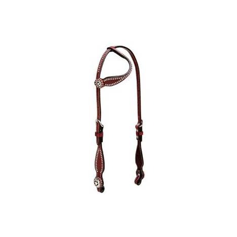 Weaver Texas Star Flat Sliding Ear Headstall
