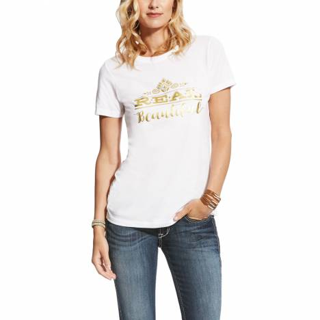 Ariat Ladies Real Tee - Beautiful White