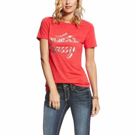 Ariat Ladies Real Tee - Sassy Red