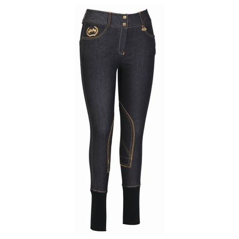 Equine Couture Ladies Bobbi Knee Patch Denim Breech