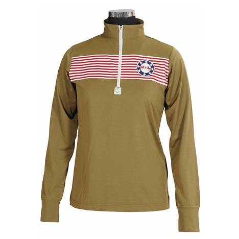 Equine Couture Ladies Patriot Polo Long Sleeve