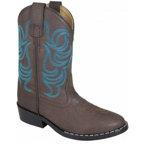 Smoky Mountain Youth Monterey Boots - Brown/Blue
