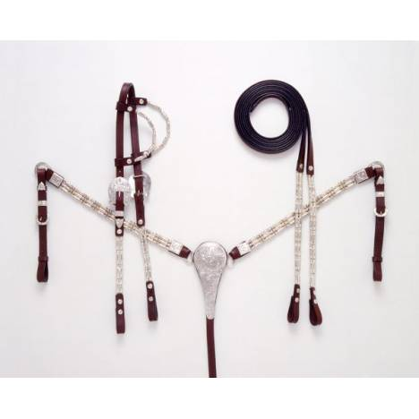 Royal King Ferruled Double Ear Show Headstall