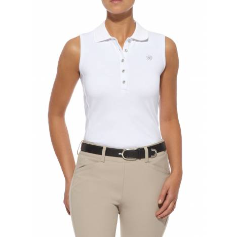 Ariat Ladies Prix Sleeveless Polo - White