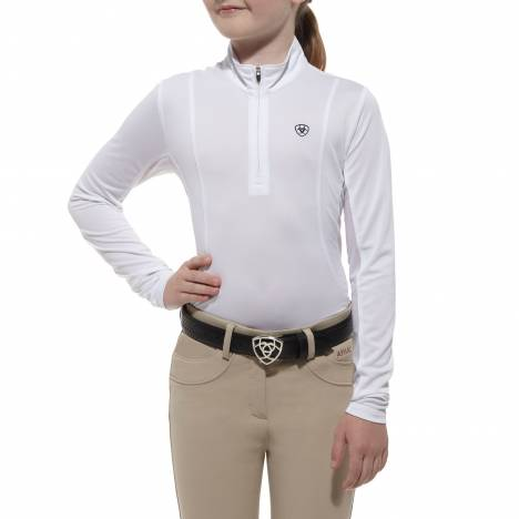 Ariat Kids Sunstopper Top- White