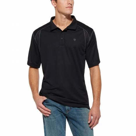 Ariat Mens AC Tek Polo - Black