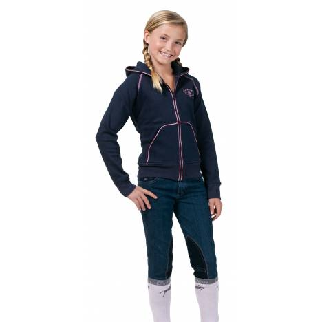 Ovation Girls Pink Diamond Knee Patch Riding Jeans
