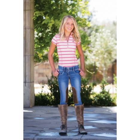 Goode Rider Girls Horsebit Jeans