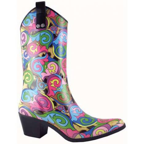 Smoky Mountain Ladies High Heel Rubber Western Boots